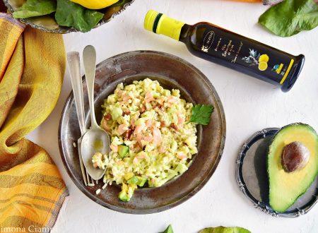 Risotto al salmone e avocado al profumo di limone