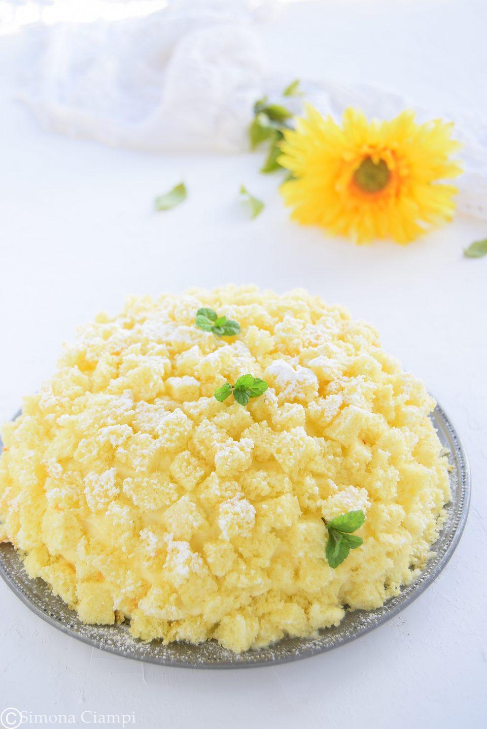 Torta mimosa all'ananas-ricetta con foto dei passaggi