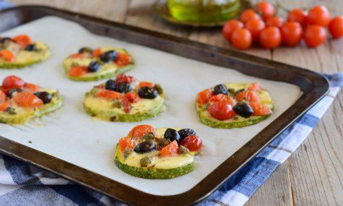 Pizzette di zucchine alla mediterranea