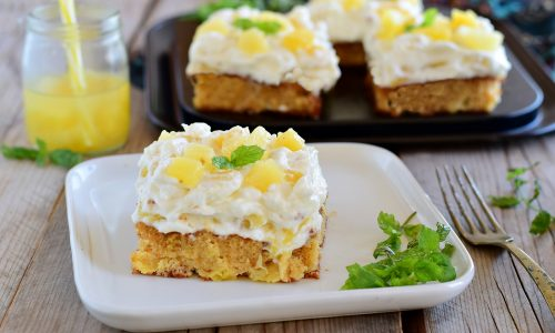 Torta di ananas pineapple sunshine cake senza pesare nulla