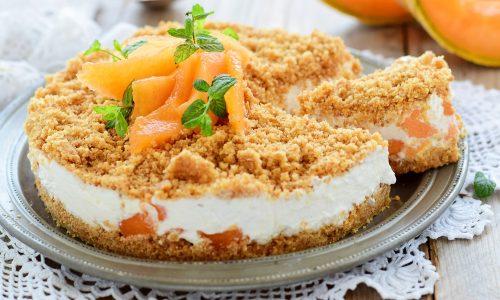 Torta fredda al melone-ricetta facile e veloce