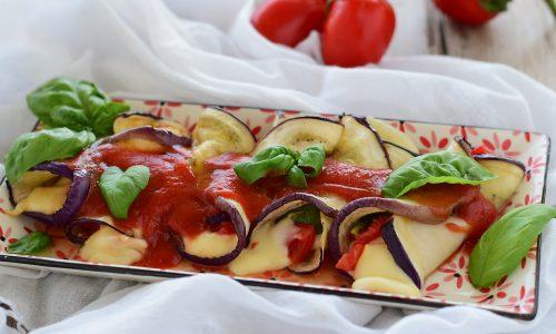Involtini di melanzane grigliate con scamorza