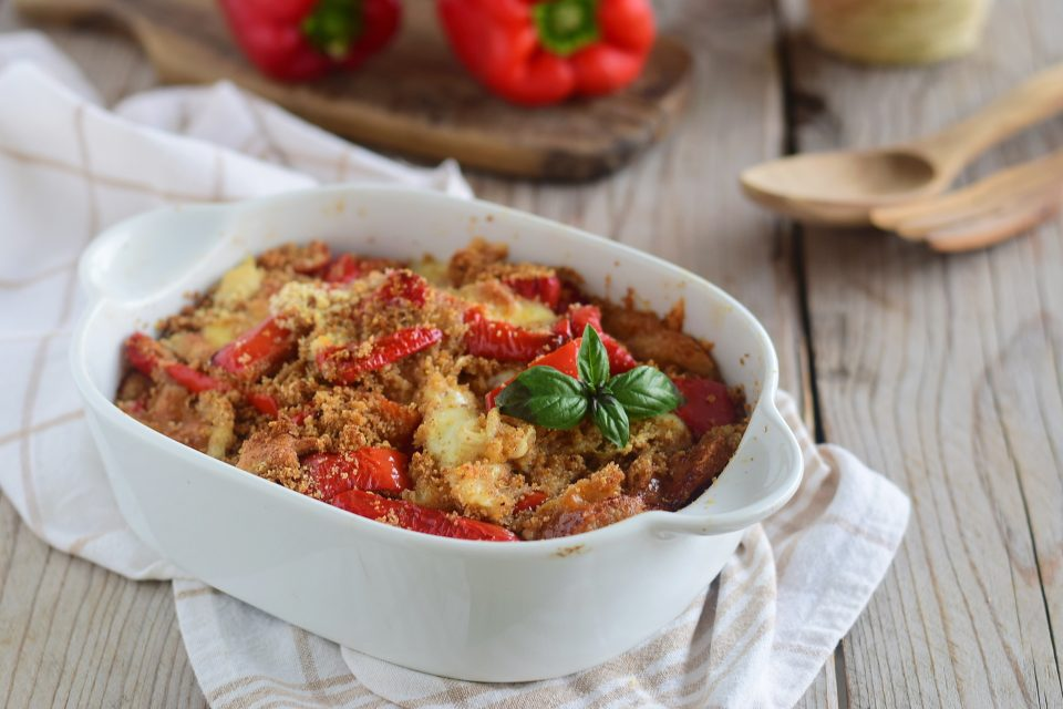 Peperoni al forno pasticciati-pronti in 15 minuti