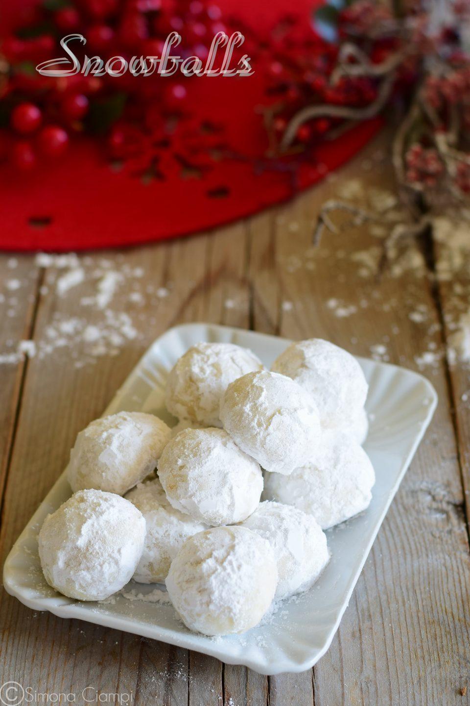 Biscotti palle di neve o snowballs