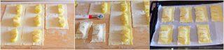Sfogliatine alle mele e crema -con foto dei passaggi