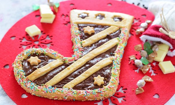 Calza della Befana-crostata con Nutella