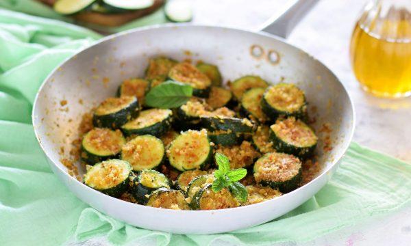 Zucchine arraganate in padella-contorno facile