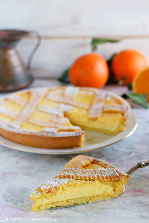 Crostata di ricotta all'arancia-con foto dei passaggi