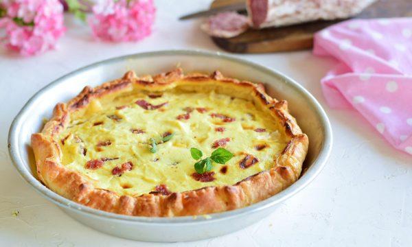 Torta salata con ricotta e salame-ricetta facile e veloce