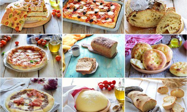 Raccolta di pane focacce e pizze di tutti i tipi