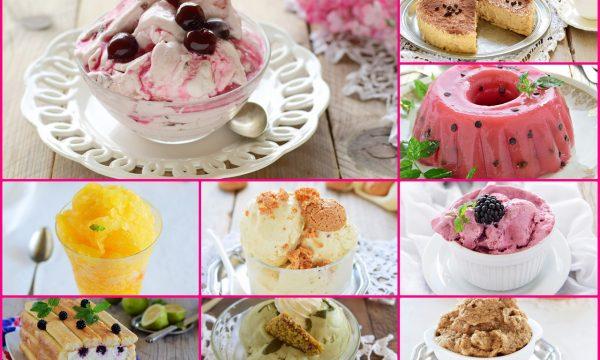 Gelato fatto in casa senza gelatiera e dolci senza cottura