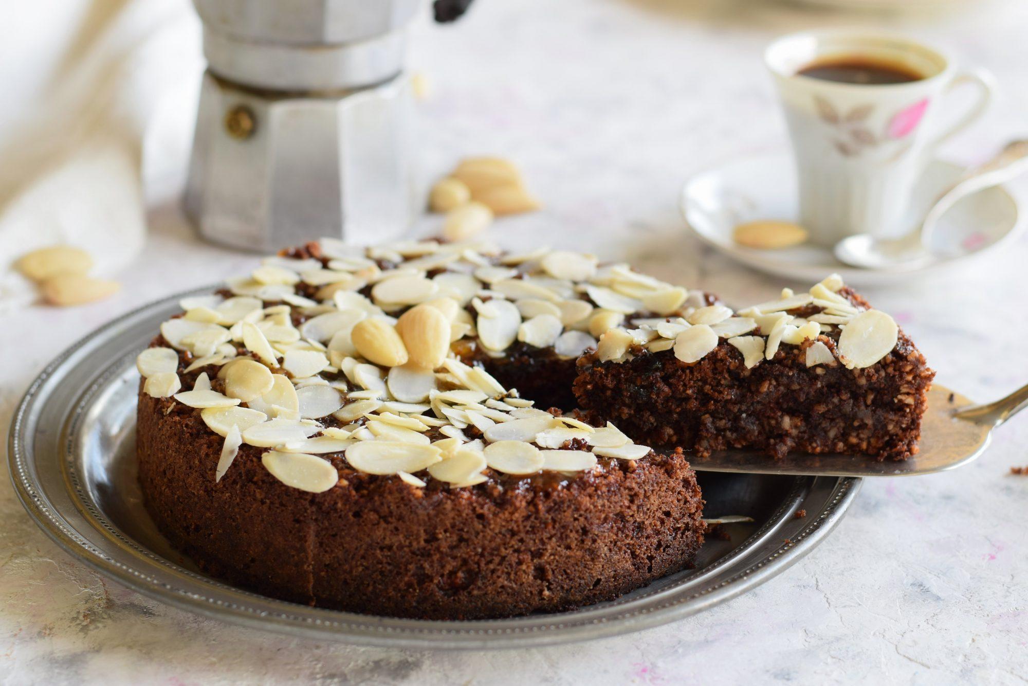 Torta caprese al cioccolato e mandorle senza farina