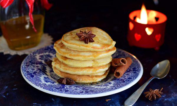 Pancakes speziati di Natale-senza lattosio
