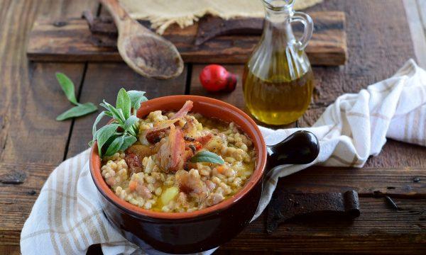 Zuppa di fagioli e farro della Garfagnana