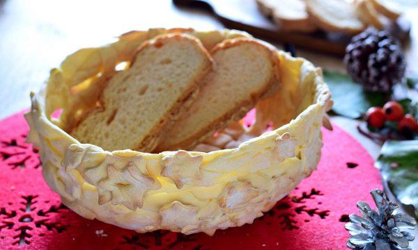 Cesto di pane portapane- con foto dei passaggi per realizzarlo
