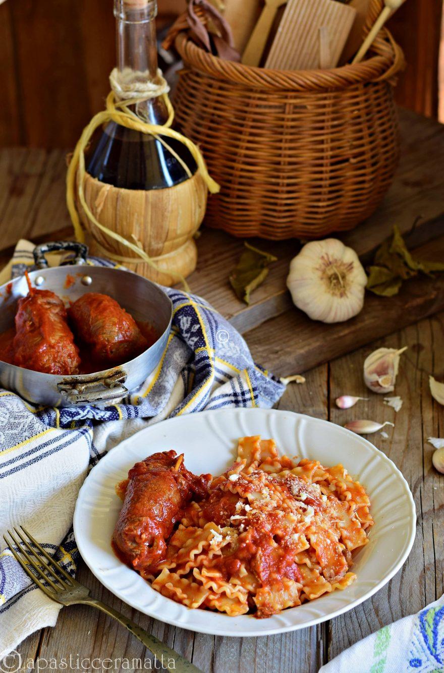 Pasta al ragù di involtini-ricetta molisana