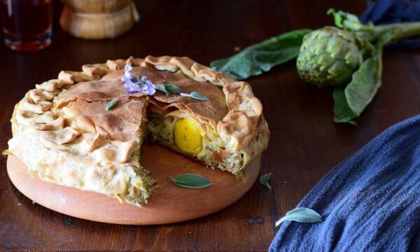 Torta pasqualina con carciofi-ricetta tipica ligure