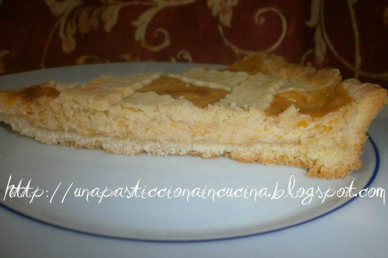 Crostata con marmellata d'arance e yogurt