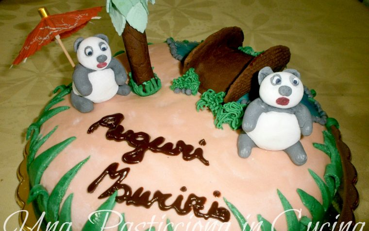 """Torta Panda – """" Il Bello della Natura, pardon : i 2 Belli della Natura """""""