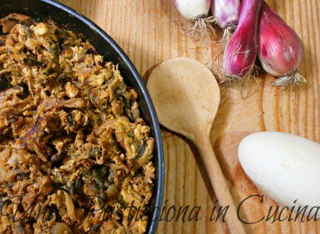 code di cipolle con uovo di oca