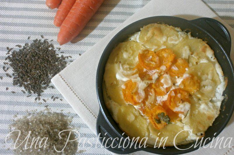 Sformato di patate e carote cremoso monoporzione