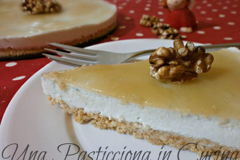 Cheesecake al gorgonzola con gelatina di birra