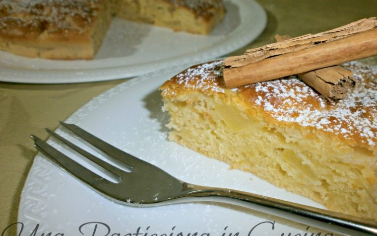 Torta di mele light con yogurt