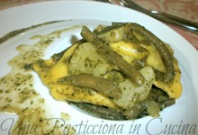 Ravioli di Carne al Pesto con Patate e Fagiolini Ricetta