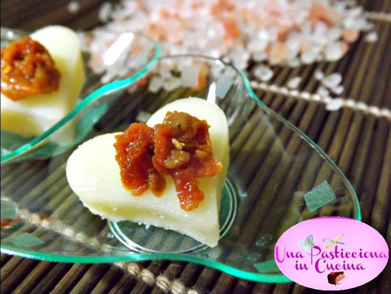 cuori di formaggio e pomodori secchi ricetta san valentino