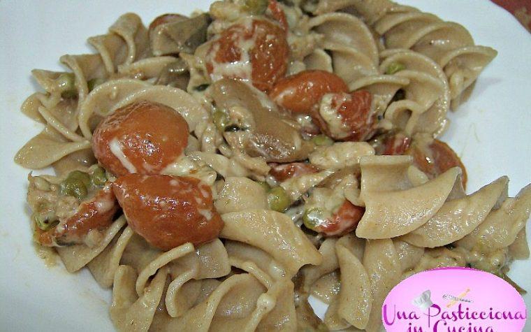 Pasta alle Verdure Cremosa,Carne, Funghi
