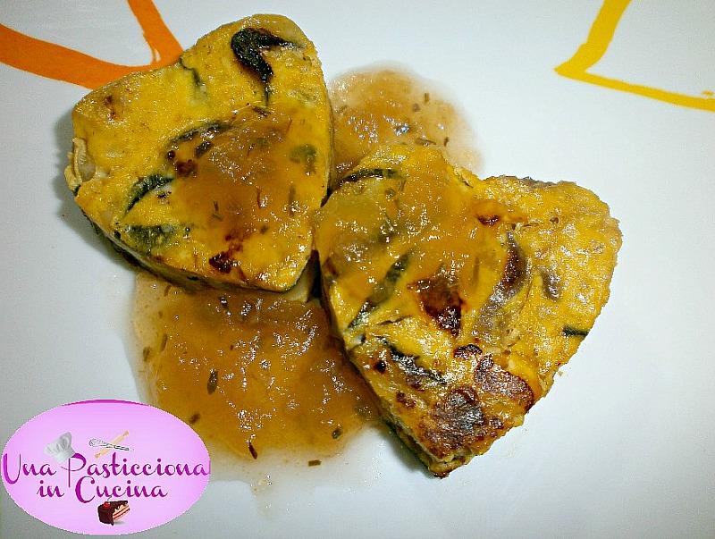 frittata di verdure a forma di cuore ricetta