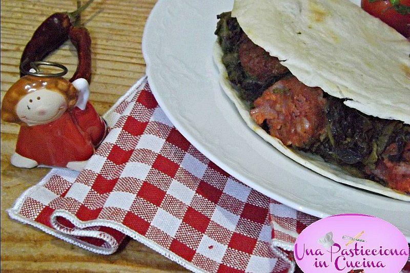 Piadina con Salsiccia e Broccoli Ricetta