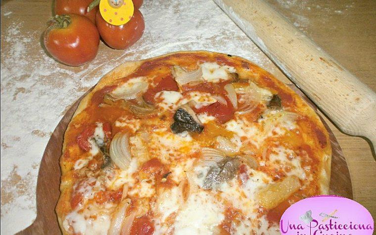 Pizza ai Funghi con Peperoni Ricetta