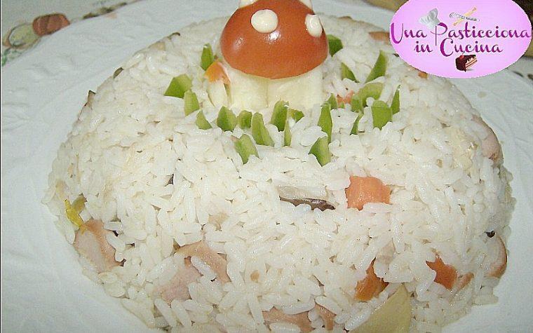Insalata di Riso con Tonno Wurstel e Funghi