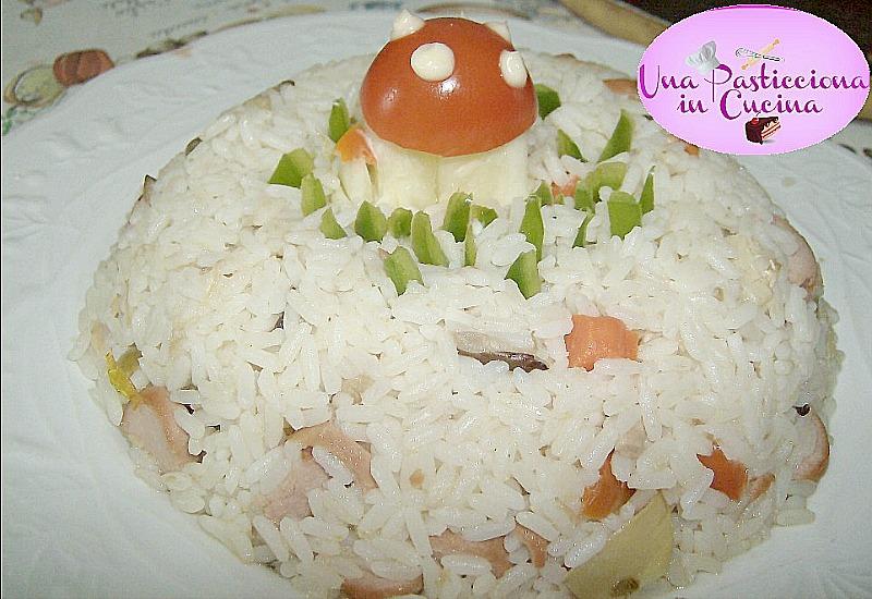 insalata di riso con tonno e wurstel