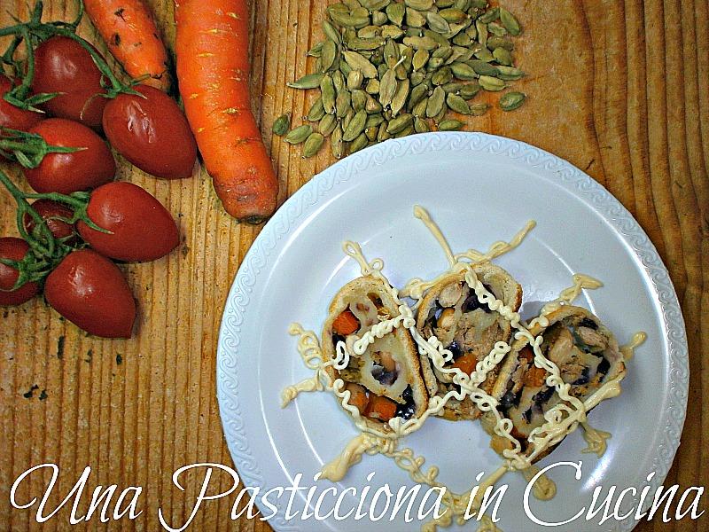 strudel salato di verdure e tonno ricetta