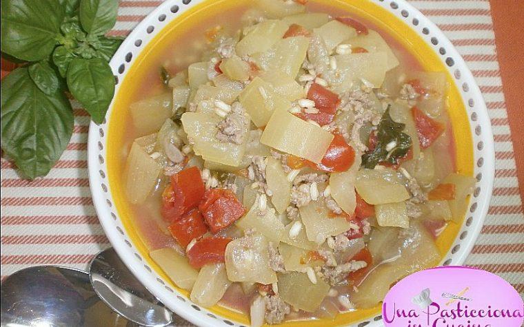 Zucca Lunga con Riso e Carne Ricetta