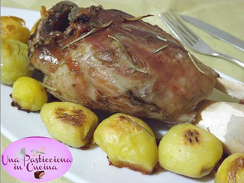 stinco al forno con patate ricetta