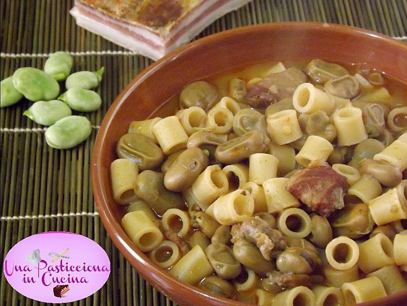 Pasta e Fave con Pancetta