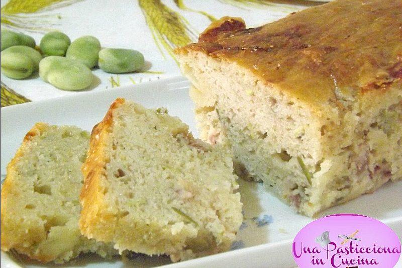 Plumcake con Fave e Pancetta