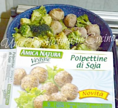broccoli e patate con polpette