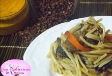 Spaghetti Saltati con Carne e Verdure