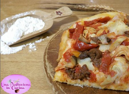 Pizza con Peperoni Agrodolci e Funghi