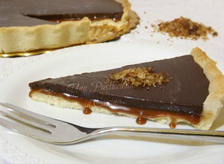 Crostata con Caramello Salato e Cioccolato