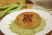 Hamburger con Crema di Fave e Pancetta Croccante