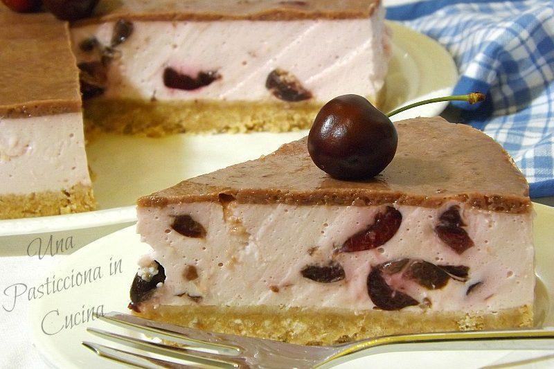 Cheesecake alle Ciliegie e Yogurt Greco