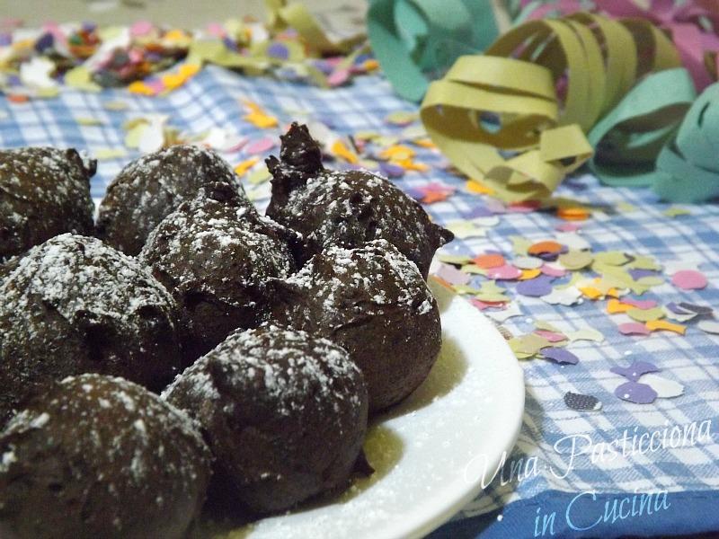 Castagnole al Cacao di Carnevale