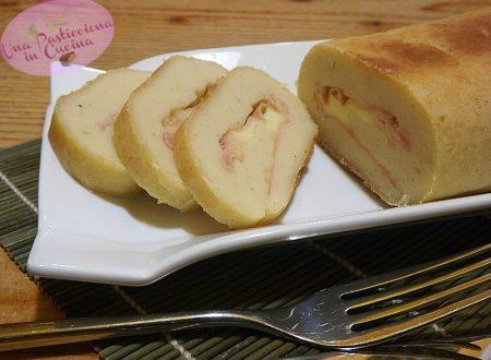 Rotolo di Patate Ripieno senza Uova e Glutine