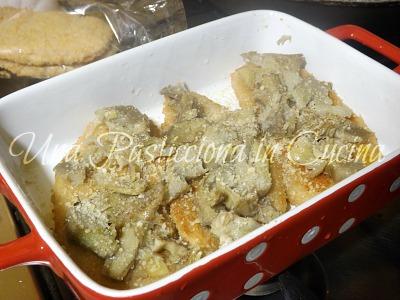 sformato di carciofi e pollo al forno