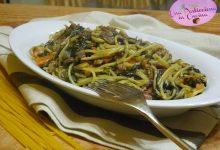 Pasta con Spinaci, Funghi e Carne Trita